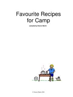 Favourite Recipes for Camp - Scouting Resources