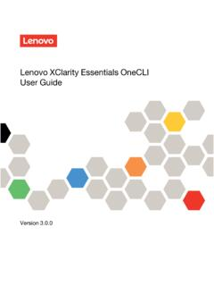 Lenovo XClarity Essentials OneCLI User Guide