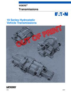 VICKERS Transmissions 19 Series Hydrostatic …
