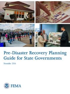 Pre-Disaster Recovery Planning Guide for State …