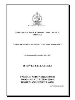 O LEVEL SYLLABUSES - ZIMSEC