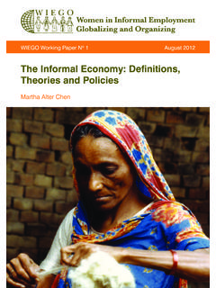 The Informal Economy: Definitions, Theories and …