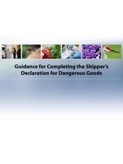 Guidance for Completing the Shipper's Declaration for ...