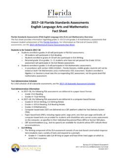 2017–18 FSA ELA and Mathematics Fact Sheet