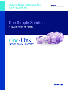 One Link - Baxter Medication Delivery Products