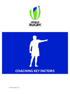 COACHING KEY FACTORS - World Rugby Coaching