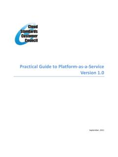 Practical Guide to Platform as a Service - cloud-council.org
