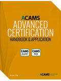 ADVANCED CERTIFICATION - ACAMS