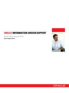 ORACLE INFORMATION-DRIVEN SUPPORT
