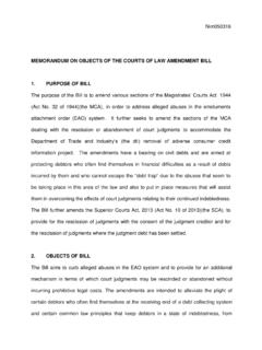 MEMORANDUM ON OBJECTS OF THE COURTS OF LAW …