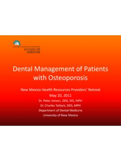 Dental Management of Patients with Osteoporosis