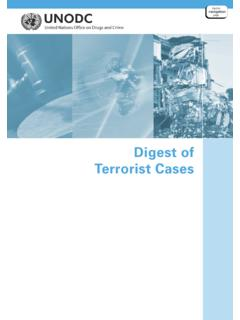 Digest of Terrorist Cases - United Nations Office on Drugs ...