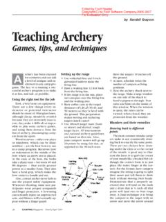 by Randall Grayson Teaching Archery