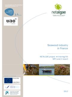 Seaweed industry in France - Agrocampus Ouest