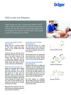 ECG Leads and Adapters - Draeger