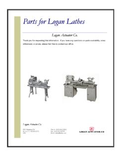 HOW TO ORDER REPAIR PARTS - Lathe Department