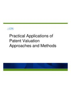 Practical Applications of Patent Valuation …