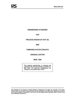 ENGINEERING STANDARD FOR PROCESS DESIGN OF HOT …