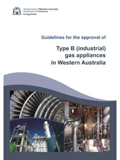 Type B (industrial) gas appliances in Western Australia
