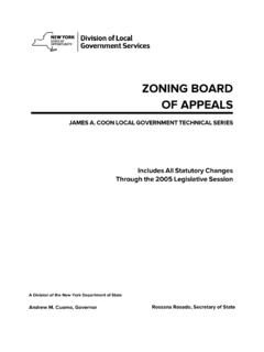 ZONING BOARD OF APPEALS - New York Department of …