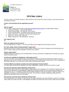 2018 Deer Lottery Instructions - Connecticut