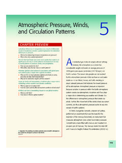 Atmospheric Pressure, Winds, and Circulation …