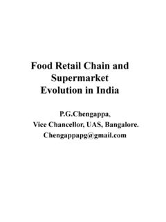 Food Retail Chain and Supermarket Evolution in India