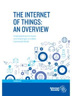 THE INTERNET OF THINGS: AN OVERVIEW
