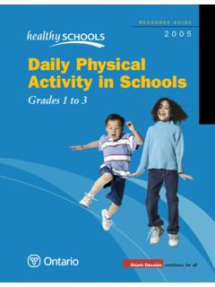 Daily Physical Activity in Schools - Ontario