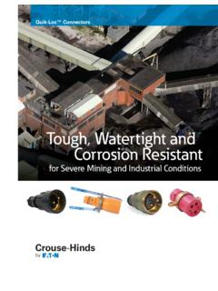 Tough, Watertight and Corrosion Resistant - Cooper …