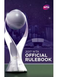 2017 Official Rulebook - WTA Tennis