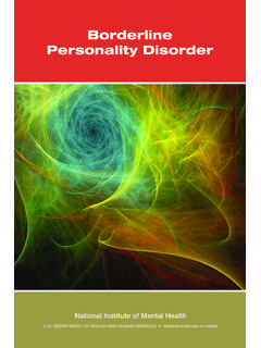 Borderline Personality Disorder - South African …