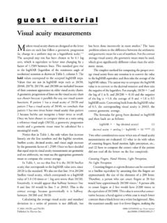 Visual acuity measurements - hicsoap.com