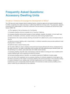 Frequently Asked Questions: Accessory Dwelling Units