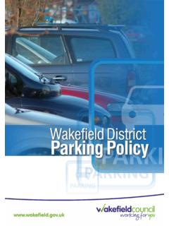 Wakefield District Parking Policy