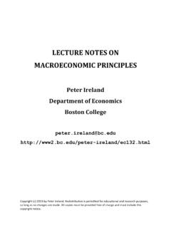 LECTURE NOTES ON MACROECONOMIC PRINCIPLES