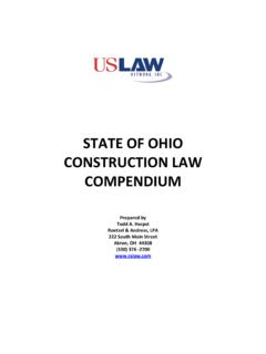 STATE OF OHIO CONSTRUCTION LAW …