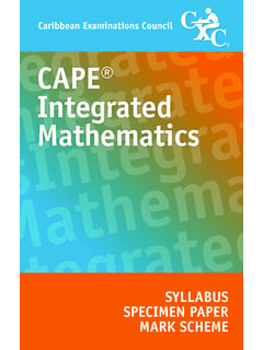 CAPE Integrated Mathematics - Weebly