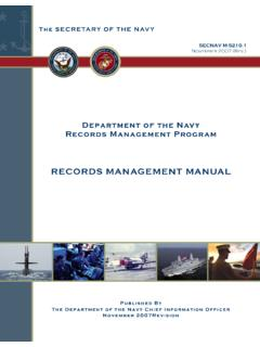 RECORDS MANAGEMENT MANUAL