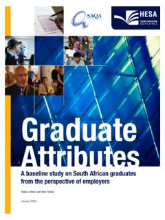Graduate Attributes - South African Qualifications Authority