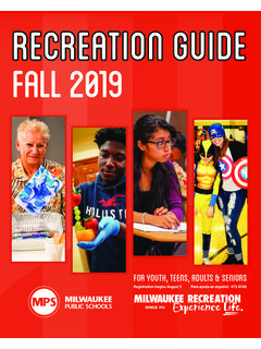 Recreation Guide FALL 2019