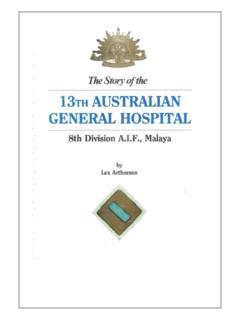 THE STORY OF AUSTRALIAN GENERAL HOSPITAL …