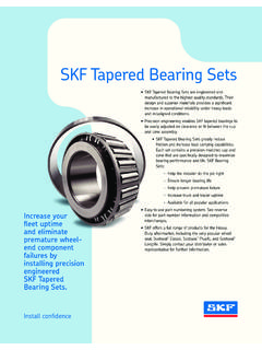 SKF Tapered Bearing Sets - Home for Truck Parts