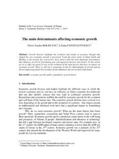 The main determinants affecting economic growth - …