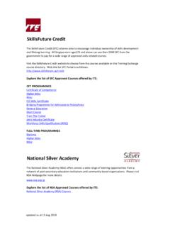SkillsFuture Credit - Institute of Technical Education