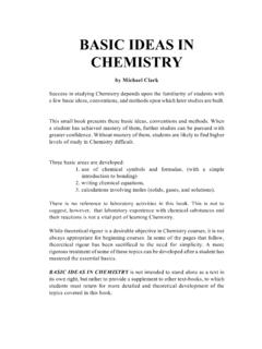 BASIC IDEAS IN CHEMISTRY - xenware.net