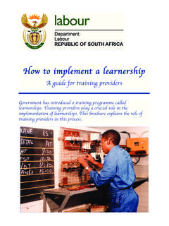Guide to training providers - Department of Labour