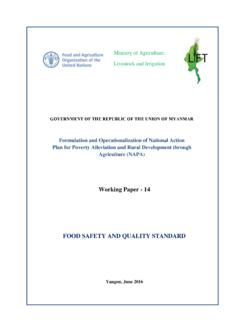 FOOD SAFETY AND QUALITY STANDARD