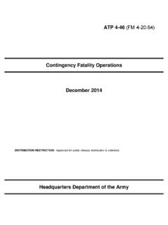 Contingency Fatality Operations December 2014