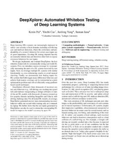 DeepXplore: Automated Whitebox Testing of Deep …